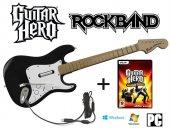 Pc Rock Band Guıtar Hero Uyumlu Orjınal Kablolu Gıtar + Oyun