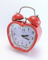 Alar Saat Metal Kırmızı
