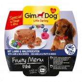 Gimdog Fruity Menu Köpek Ezme Konserve Kuzu Yaban Mersini 100gr