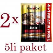 Gimcat Sticks Hindili Mayalı Ödül Çubukları 4+1li 25gr