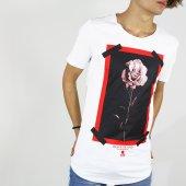 Rose Gül Baskılı Erkek Tişört Man T Shirt Hoodie 2 Renk