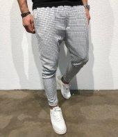 Kareli Slim Fit Şalvar Pantolon Streetwear