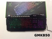 Gmkb 50 Led Işıklı Mekanik Hisli Rainbow Oyuncu Gamer Klavyesi