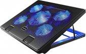 Sy C5 Gamıng 5 Fanlı Notebook Laptop Soğutucu Stand Mavi Ledli