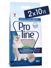 Pro Line Parfümsüz Topaklanan Kedi Kumu 10 Lt (2 Adet)