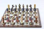 Satranç Takımı, Tapınak Şövalyeleri,polyester Döküm, El Boyama, Hediyelik