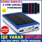 Güneş Enerjili Smart Power Bank Çift Usb Kd