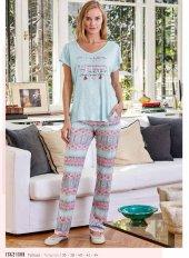 Eros Esk 21580 Sırtı Çapraz Kısa Kollu Pijama Takım