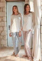 Feyza Bayan Uzun Kol Pijama Takımı 3278