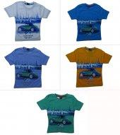 Tomurcuk Bebe Erkek Çocuk Araba Baskılı Tişört