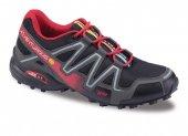 15174 Jump Merdane Suni Deri Termo Bağcıklı Erkek Spor Ayakkabı Siyah Kırmızı