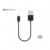 Blitzpower 2.1a Kısa Micro Usb Data Şarj Kablosu 0,3 Metre
