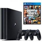 Sony Playstation 4 Pro 1 Tb (Ps4 Pro) + 2. Ps4 Kol + Ps4 Gta 5