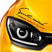 Lada Niva Sports Mind Far Üstü Oto Sticker