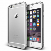 Verus İphone 6 Plus 6s Plus Iron Bumper Kılıf White Silver