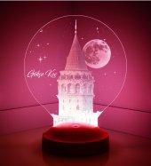 3d Led Lamba Kişiye Özel Galata Kulesi