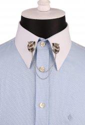 Kaplan Figürlü Taşlı Zincirli Gömlek Yaka İğnesi Gı130