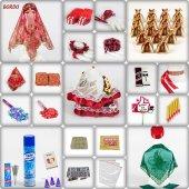 505 Parça Lüks Sultan Kına Seti 3 Renk Kına Gecesi Malzemeleri
