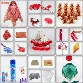 1001 Parça Klasik Sultan Kına Seti 4 Renk Kına Gecesi Malzemeleri