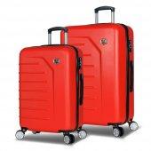 My Valice Premium Abs 2li Valiz Seti (Orta Ve Büyük) Kırmızı