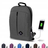 My Valice Smart Bag Galaxy Usb Şarj Girişli Notebook Sırt Cantası