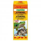 Sera Reptilin Kaplumbağa Sürüngen Vitamini Yem Katkısı 15ml