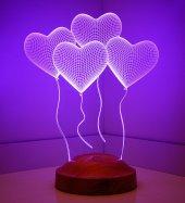 Kılasik Kalpler 3d Led Lamba