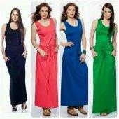 Kadın Askılı Hardal Belden Bağlı Elbise