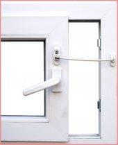 Pimapen Kapı, Pencere Çocuk Emniyet Kilidi Halatlı Anahtarlı Beyaz 5&#039 Li Paket