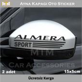 Nissan Almera Ayna Kapağı Oto Sticker (2 Adet)