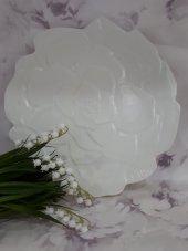 Porselen Servis Tabağı 6 Adet Çiçekli 20 Cm