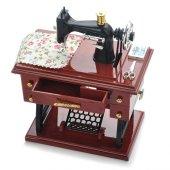 Nostaljik Dikiş Makinesi Tasarımlı Çekmeceli Müzik Kutusu