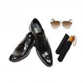 Eray Kundura Klasik Parlak Deri Siyah Bağcıklı Erkek Ayakkabısı
