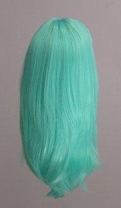 Sentetik Saç Uzun Yeşil Gerçek Saç Dokusuna En Yakın Materyal