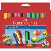 Faber Castell Eğleceli Keçeli Kalem 20 Renk