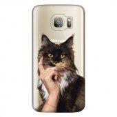 Samsung Galaxy S7 Kılıf Desenli Silikon Kap Arka Koruyucu İnce 0.2mm Kapak Hopi3399