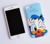 ı Phone 7 Plus 8 Plus Blue Donald Duck Telefon Kılıfı
