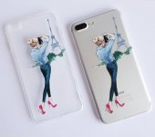 ı Phone 7 Plus 8 Plus Dress Girl Telefon Kılıfı