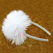 Tül Çiçekli Beyaz Lohusa Tacı