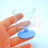 6lı Plastik Mini Lohusa Kadehi Mavi 5cm