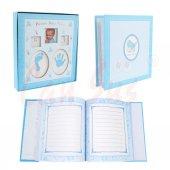 Baby Shower Anı Defteri 150 Sayfa Mavi 25cm
