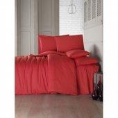 Cotton Box Fashion Saten Çift Kişilik Nevresim Takımı Soft Kırmızı