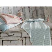 Ecocotton Organik Pamuk Bebek Örgü Battaniye Baby Dream Mavi