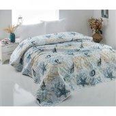 Komfort Tekstil Çift Kişilik Baskılı Çok Amaçlı Örtü Pike 200x220