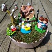 Romantik Ponçik Çift Minyatür Bahçe
