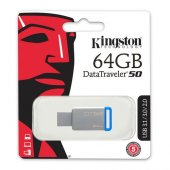 Kingston 64gb Usb3.1 Memory Dt50 64gb Metal Mavi