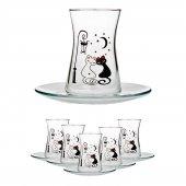 Joy Glass Kedinin Rüyası Çay Takımı (12 Parça) P42361kd & P54391
