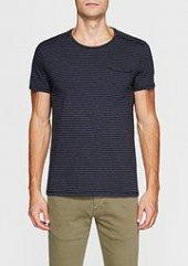 Mavi 064710 25723 Erkek Kısa Kol Çizgili T Shirt