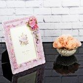 Dekoratif Polyester Çiçek Desenli Çerçeve