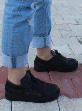 Lace Siyah Spor Günlük Bayan Ayakkabı